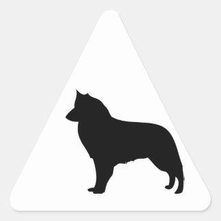 Perro de Groenendael del belga, pegatina belga del