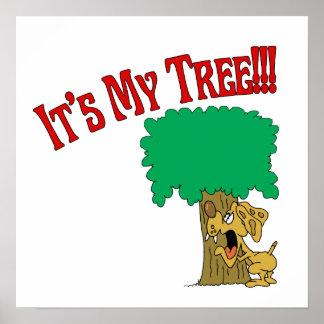 Perro de Hugger del árbol Posters