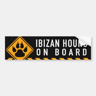 Perro de Ibizan a bordo Etiqueta De Parachoque