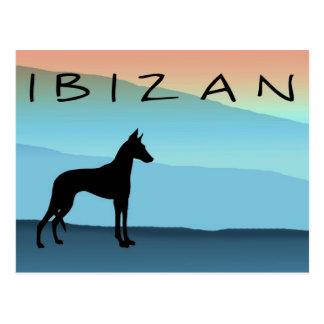 Perro de Ibizan azul de las montañas Postal