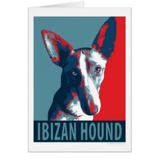 Perro de Ibizan por los perros de la esperanza Tarjeta De Felicitación