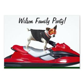 """Perro de Jack Russell Terrier Invitación 3.5"""" X 5"""""""