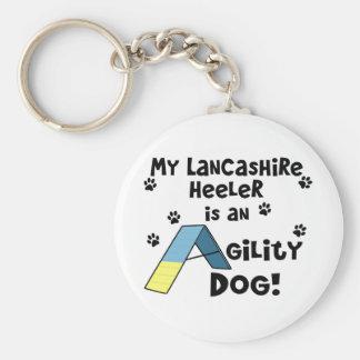 Perro de la agilidad de Lancashire Heeler Llavero Redondo Tipo Pin