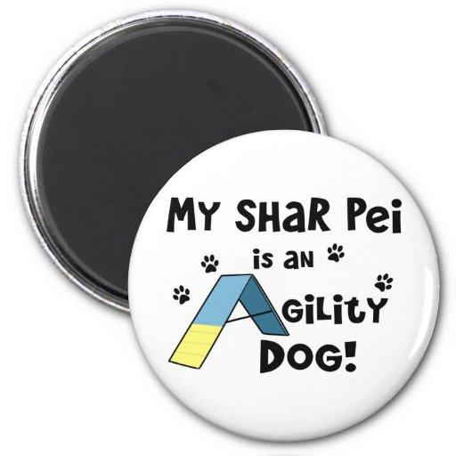 Perro de la agilidad de Shar Pei Imán Redondo 5 Cm