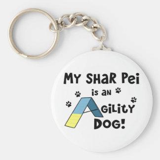 Perro de la agilidad de Shar Pei Llavero