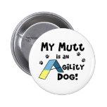 Perro de la agilidad del Mutt Pins