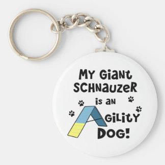 Perro de la agilidad del Schnauzer gigante Llaveros