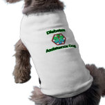 Perro de la ayuda de la diabetes camisa de perro