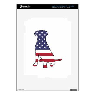 Perro de la bandera americana pegatinas skins para iPad 3