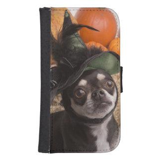 Perro de la bruja de Halloween Funda Tipo Billetera Para Galaxy S4