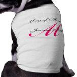 Perro de la camisa del perro de las rosas fuertes  ropa para mascota