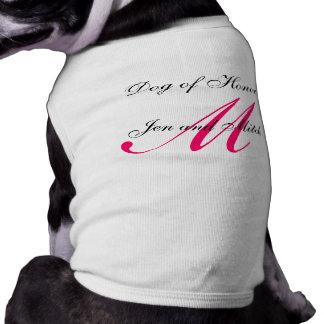 Perro de la camisa del perro de las rosas fuertes  playera sin mangas para perro
