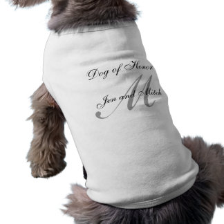 Perro de la camisa del perro del boda del honor gr playera sin mangas para perro