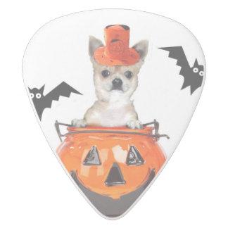 Perro de la chihuahua de Halloween Plectro De Delrin Blanco