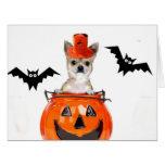 Perro de la chihuahua de Halloween Tarjeta De Felicitación Grande