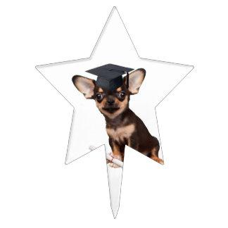 Perro de la chihuahua de la graduación decoraciones de tartas