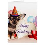 Perro de la chihuahua del cumpleaños tarjeta de felicitación