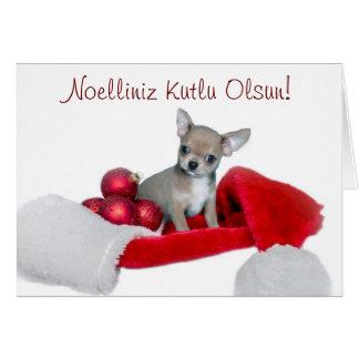 Perro de la chihuahua del navidad de Noelliniz Kut Tarjeta De Felicitación