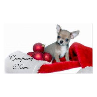 Perro de la chihuahua del navidad tarjetas de visita