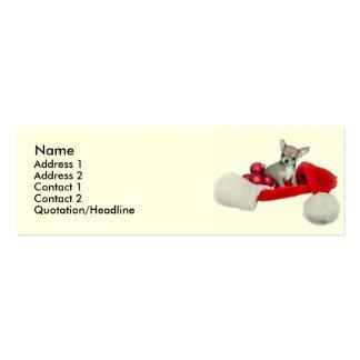 Perro de la chihuahua del navidad tarjetas de visita mini