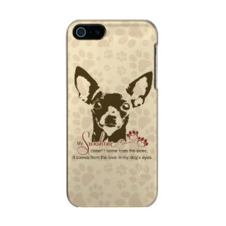 Perro de la chihuahua mi sol carcasa de iphone 5 incipio feather shine