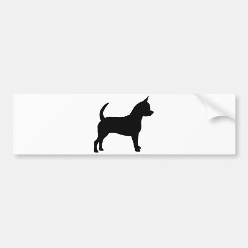 Perro de la chihuahua pegatina de parachoque