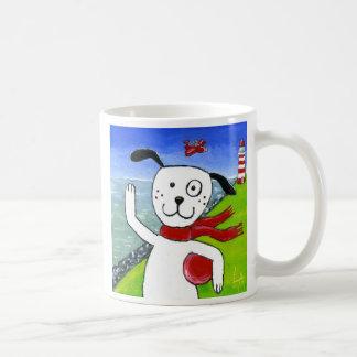 Perro de la costa taza de café