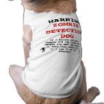 Perro de la detección del zombi camisas de perritos