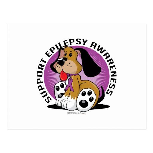 Perro de la epilepsia tarjeta postal