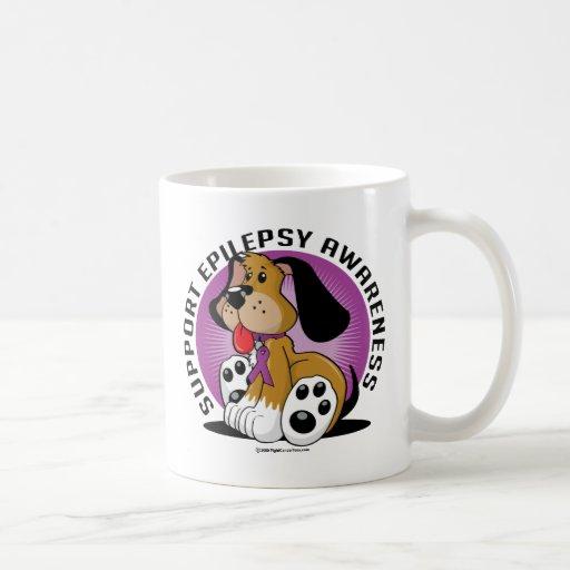 Perro de la epilepsia tazas de café