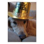 Perro de la Feliz Año Nuevo Tarjeta De Felicitación