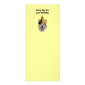 Perro de la fiesta de cumpleaños tarjeta publicitaria personalizada
