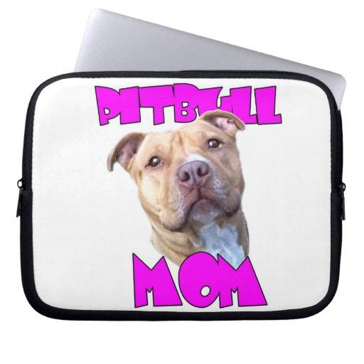Perro de la mamá de Pitbull Fundas Ordendadores