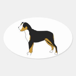 Perro de la montaña de Entlebucher Pegatina De Oval
