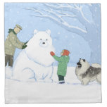 Perro de la nieve del Keeshond Servilleta