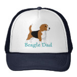 Perro de la obra clásica del papá 2 del beagle gorro de camionero