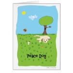 Perro de la paz - pata de la atracción tarjeton