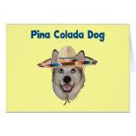 Perro de la playa de Pina Colada Felicitación