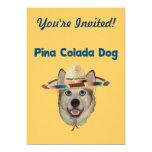 Perro de la playa de Pina Colada Invitacion Personal