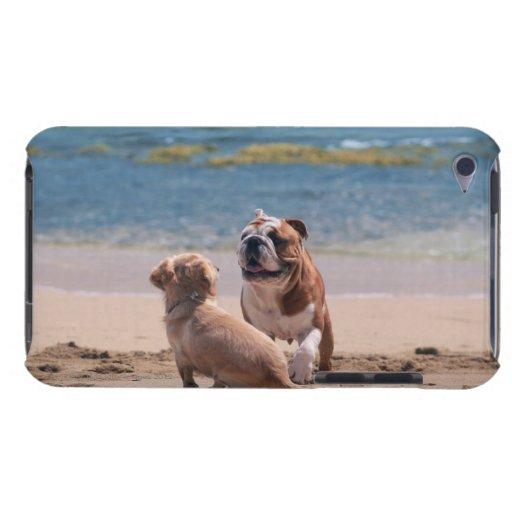 Perro de la playa de Sandy iPod Case-Mate Protector