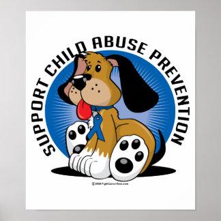 Perro de la prevención de la pederastia póster