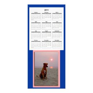 perro de la puesta del sol, 2011_calendar tarjetas publicitarias a todo color