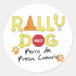 Perro de la reunión de Perro de Presa Canario Etiqueta Redonda