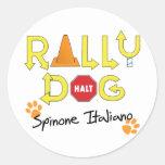 Perro de la reunión de Spinone Italiano Etiqueta Redonda