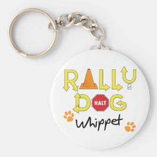 Perro de la reunión de Whippet Llaveros Personalizados