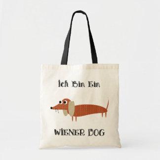 Perro de la salchicha de Frankfurt de Ein del bin  Bolsas Lienzo