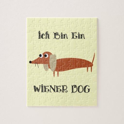 Perro de la salchicha de Frankfurt de Ein del bin  Rompecabezas