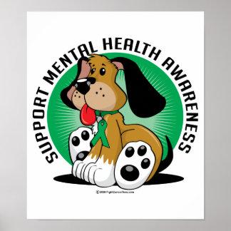 Perro de la salud mental impresiones