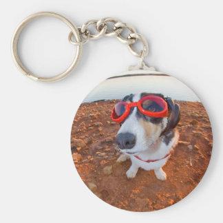 Perro de la seguridad llavero redondo tipo pin