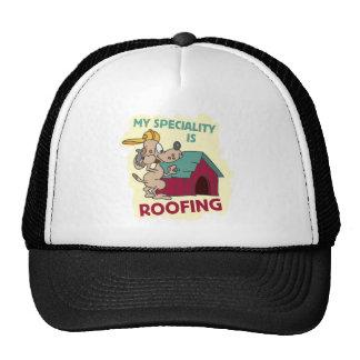 Perro de la techumbre gorras de camionero